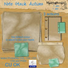 Note Stacks Action by Mandog Scraps