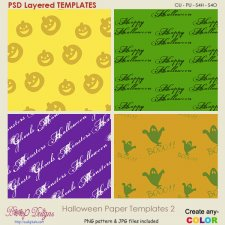 Halloween Pattern Paper TEMPLATES 2