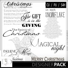 Christmas Word Arts Vol 05 by D's Design