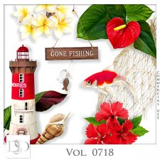 Vol. 0714 to 0718 Tropical Sea Mix by D's Design