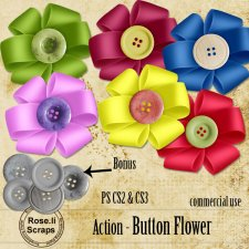 Action - Button Flower by Rose.li