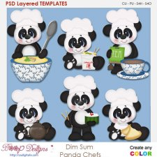 Dim Sum Panda Chef's Layered Element Templates
