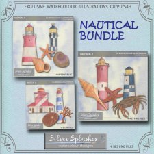 EXCLUSIVE Nautical Bundle Watercolours by Silver Splashes