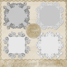 Layered Journal Templates 11 by Josy