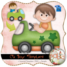 Boy Layered Template by Peek a Boo Designs