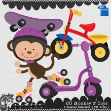Monkey & Toys Layered Template by Peek a Boo Designs