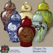 Ginger Jar Element Pack by Karen Stimson
