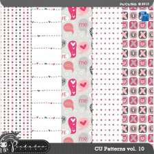 Love Pattern Template Paper vol 10 by Peek a Boo Designs