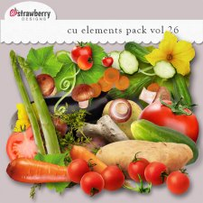 Vegetables Element Mix Vol 26 by Strawberry Designs