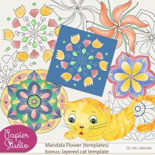 Mandala Flowers Layered Templates EXCLUSIVE by PapierStudio Silke