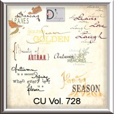 Vol. 728 Autumn WordArts by Doudou Design