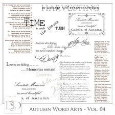 Autumn Word Arts Vol 04 by D's Design