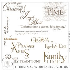 Christmas Word Arts Vol 06 by D's Design