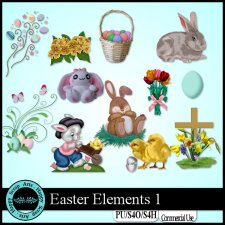 Easter Elements 1 by Happy Scrap Arts