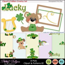 St Pats 02 - Clipart & Pattern Overlay COMBO