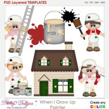When I Grow Up Painter Layered Element Templates
