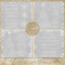 Christmas Carol Overlays 1 by Josy