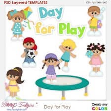 Day for Play Layered Element Templates