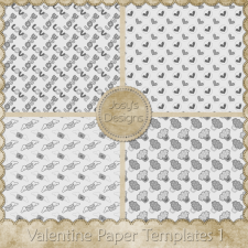 Valentine Paper Layered Templates 1 by Josy