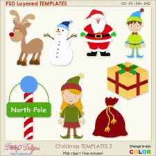 Christmas Layered TEMPLATES 2