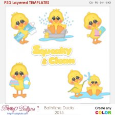 Bathtime Ducks Template Layered Element Templates