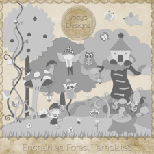 Enchanted Forest Layered Templates by Josy