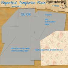 Paperfold Templates Plain by Mandog Scraps