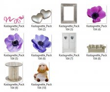Pack 104 furnitures and flowers by Kastagnette