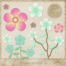 Flower Action 11 by Josy
