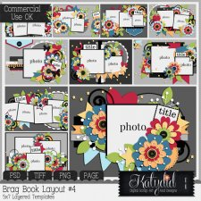 Brag Book Layered Templates Pack No 4