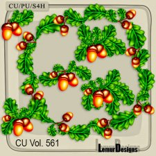 CU Vol 561 Oak Foliage by Lemur Designs
