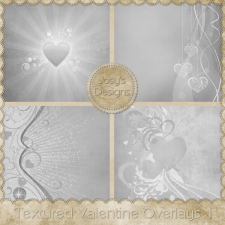 Textured Valentine Overlays 1 by Josy