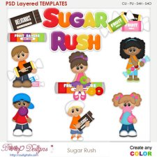 Sugar Rush Layered Element Templates