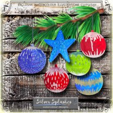 EXCLUSIVE Christmas balls by Silver Splashes