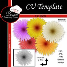Fall Mum Flower - CU TEMPLATE by Boop Designs