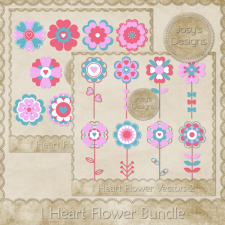 I Heart Flower BUNDLE by Josy
