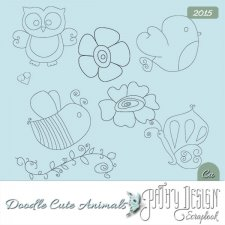 Doodles Cute Animals Pathy Design