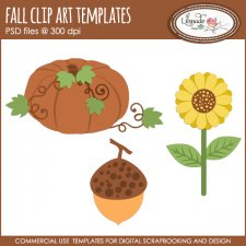Fall clip art layered templates Lilmade Designs