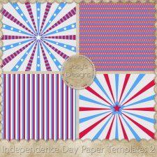 Independence Day Paper Layered Templates 2 by Josy