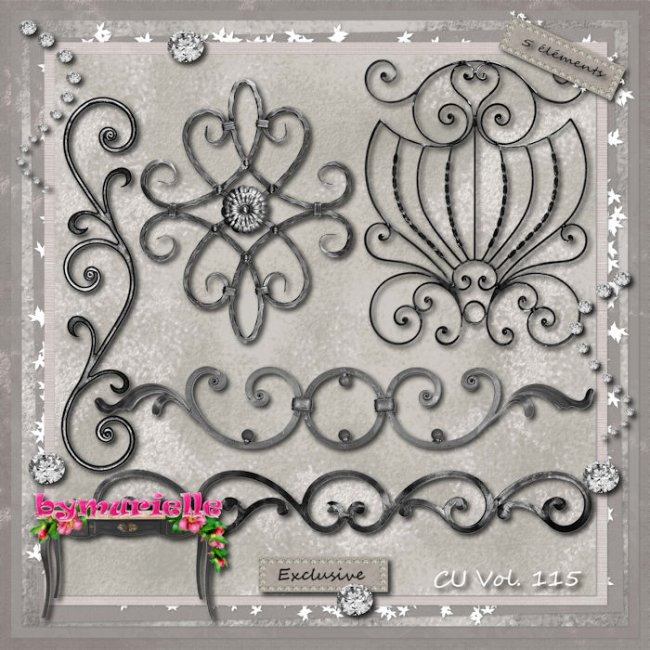Vol 115 Wrought Iron Elements EXCLUSIVE bymurielle