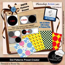 Dot Pattern PRESET Creator ACTION by Boop Designs