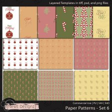 EXCLUSIVE Layered Paper Patterns Templates Set 6 by NewE Designz