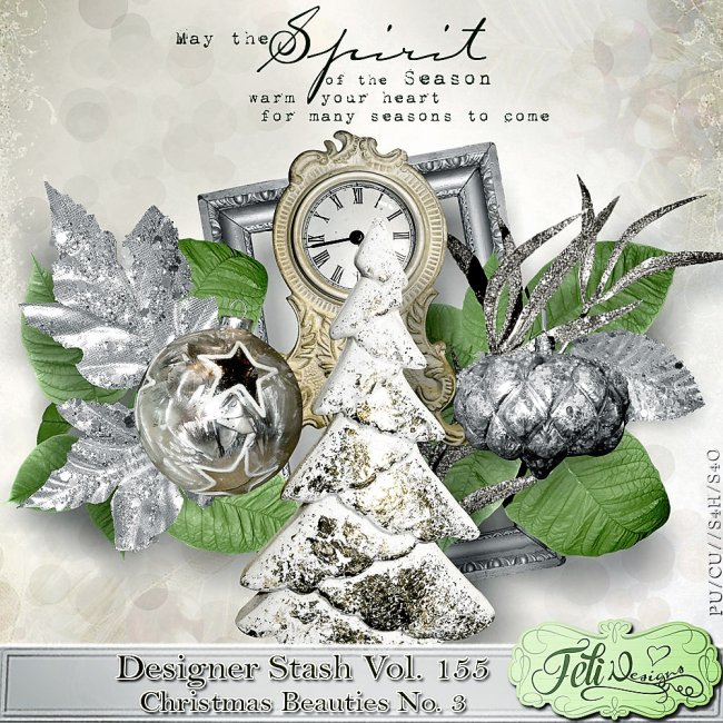 Designer Stash Vol 155 - Christmas Beauties No. 3 by Feli Designs