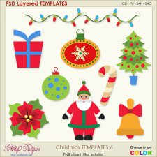 Christmas Layered TEMPLATES 6