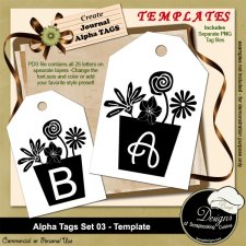Alpha Tags Set 03 TEMPLATE by Boop Designs