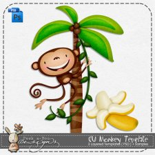 Monkey Layered Template by Peek a Boo Designs