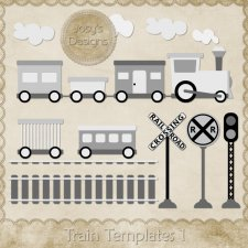 Train Layered Templates 1 by Josy