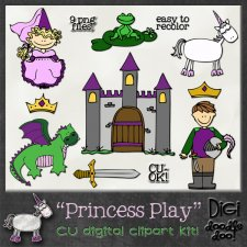 Princess Play - CU clipart