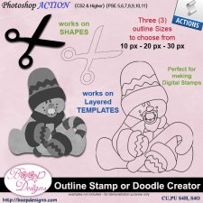 Outline Stamp or Doodle Creator ACTION by Boop Designs