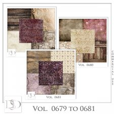 Vol. 0679 to 0681 Vintage Papers by D's Design